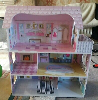 Wooden Dolls House Traditional