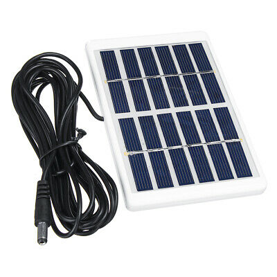 6V 1.2W Solar Panel Polycrystalline DC Interface Plug Cell Battery Charger WT7n