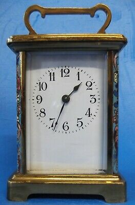 French Vintage Brass Cased Carriage Clock ~ Working