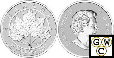 2012 'Maple Leaf Forever' $10 Silver Coin 1/2oz .9999 Fine (12987)