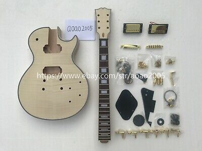 DIY LP electric guitar kit (body + neck + all accessories) can be customized
