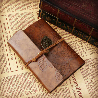 Travel Diary Vintage Retro Notepad Leather Cover Loose-leaf String Note Book