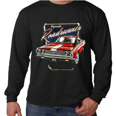 Velocitee Mens Hoodie Classic 69 Plymouth Roadrunner Muscle Car Mopar A21145