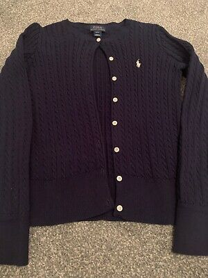 Girls Polo Ralph Lauren L 12/14 Cable Knit Cardigan
