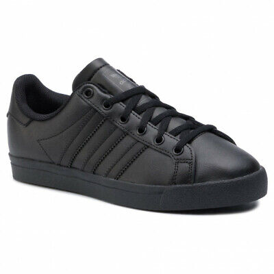Adidas Originals Coast Star Womens Girls Boys Trainers Uk Size 5  Black Leather