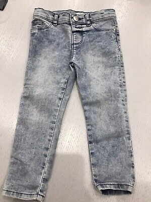 River Island Mini Skinny Jeans Girls Age 2-3 Worn Once Excellent Condition