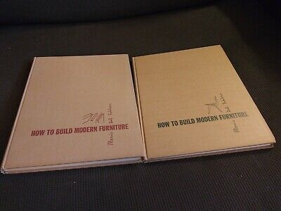 How to Build Modern Furniture Mario Del Fabbro Two Volumes Woodworking Plans