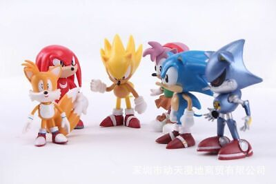 Super Sonic The Hedgehog Action Toy Figures Plush Toy Cartoon Movie Kids Adults