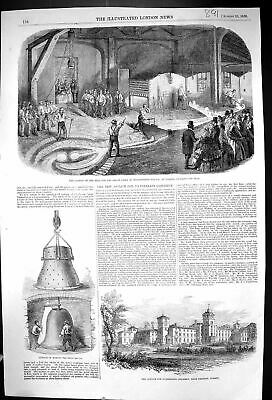 Old 1856 Casting Bell Great Clock Westminster Palace Norton Asylum Cr Victorian