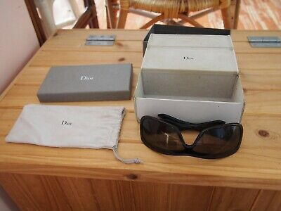 Genuine Vintage Christian Dior CD Sunglasses with Box Bag Bought in France