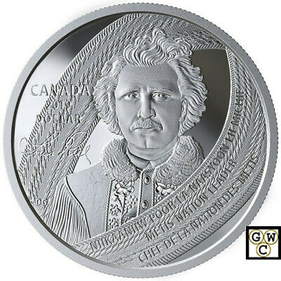 2019 'Louis Riel - Father of Manitoba' Proof Silver $1 Coin .9999 Fine(18847) NT