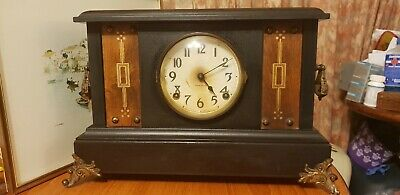 Antique Mantle wooden  Ingraham Clock
