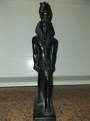 Ancient egyptian ramses figurine blak statue hand made
