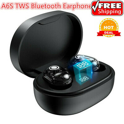 A6S TWS Wireless Bluetooth 5.0 Earphone Touch Control Transparency Sport Headset