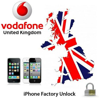 NETWORK UNLOCK SERVICE for VODAFONE UK iPhone 3/4/4s/5/5s/5c/SE/6/6s/7+/8/X/S UK