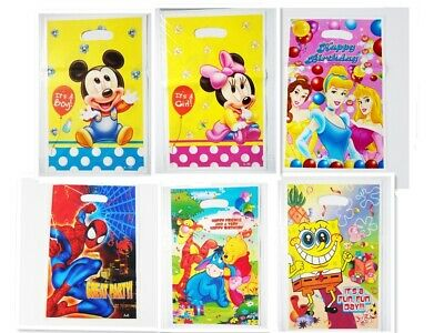 Childrens Kids Boys Girls Plastic Birthday Party Loot Bags