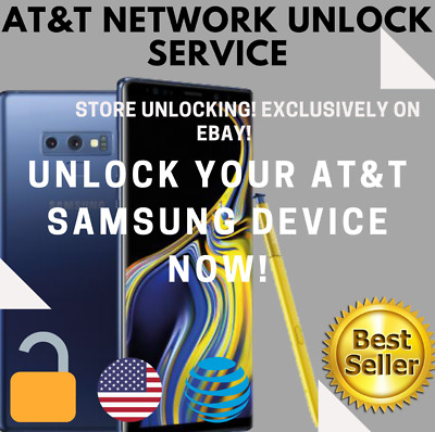 UNLOCK CODE FOR AT&T ATT SAMSUNG Galaxy Note9 8 7 6 5 4 3 Active J7 A6 S7 S8 S9