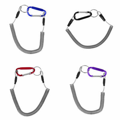 Fishing Lanyards Safety Ropes Camping Secure Retractable Coiled Tether Tools