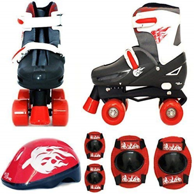 Sk8 Zone By Eurotrade Boys' HW218837 Red Black, Sk8 Zone Quad Kids Roller Boots