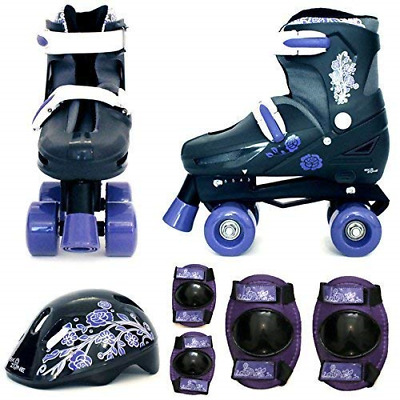 Sk8 Zone By Eurotrade Girls' HW218790 Purple Black, Sk8 Zone Quad Kids Roller EU