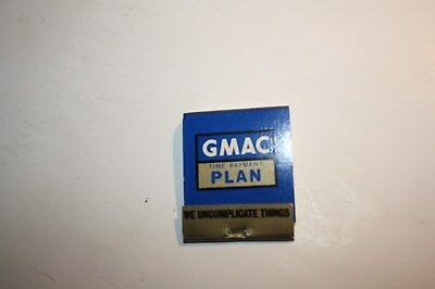 Holden GMAC vintage promotional matches from 1960s' Rare item