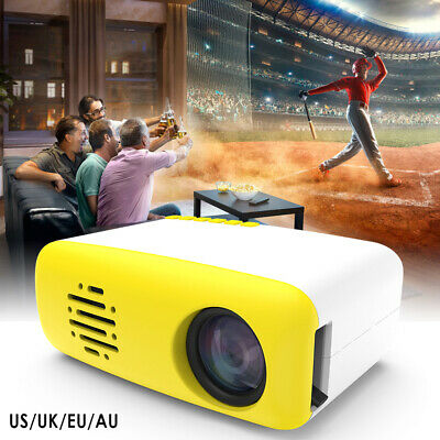 Portable LED HD 1080P Projector Home Theater Cinema Multimedia HDMI USB AV