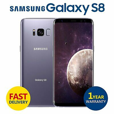 Samsung Galaxy S8 64GB SM-G950U Orchid Grey Unlocked Android Smartphone