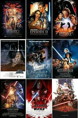 Star Wars Episode 1 2 3 4 5 6 Movie Poster Collection Bundle (Set of 6) USA NEW