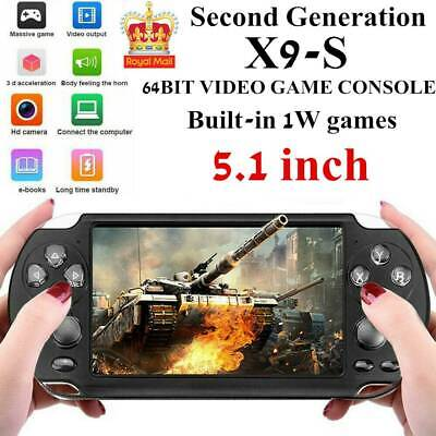 """X9S 8G 64Bit 5.1"""" PSP Portable Handheld Classic Game Console Player Video UK"""