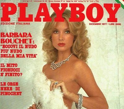 PLAYBOY ITA dicembre 1977 Barbara Bouchet - Playmate Rita Lee Erotic Magazine