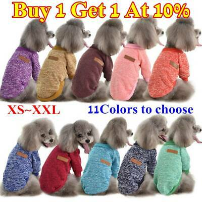 Pet Clothes Knitted Puppy Dog Jumper Sweater For Small Dogs Coat Cat XS~XXL UK