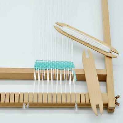 1x Beech Wood Weaving Shuttle Loom Knitting Tool Sweater Scarf Tapestry Stick