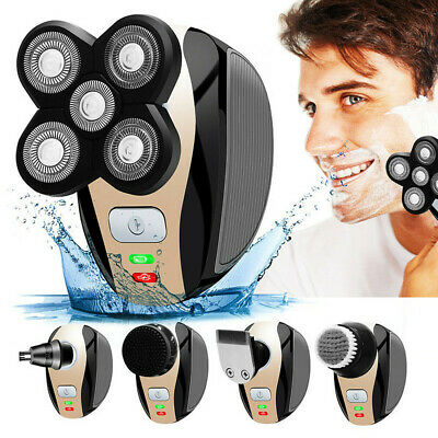 5 In 1 Men's 4D Rotary Electric Shaver Multifunction Beard Trimmer Rechargeable