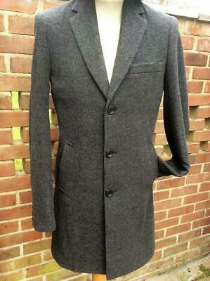 Michael Oliver Coat - Michael Oliver Men's Pre-Washed Wool Overcoat Grey