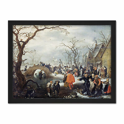 Van De Venne Shrove Tuesday In Country Painting Framed Wall Art Print 18X24 In
