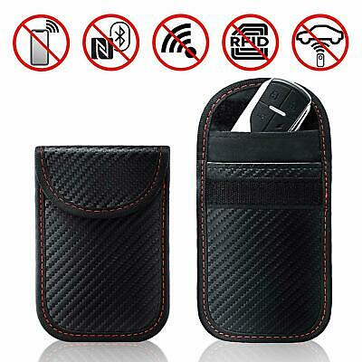 Car Key Signal Blocker Case Pouch Bag Black Faraday Cage Keyless RFID Blocking