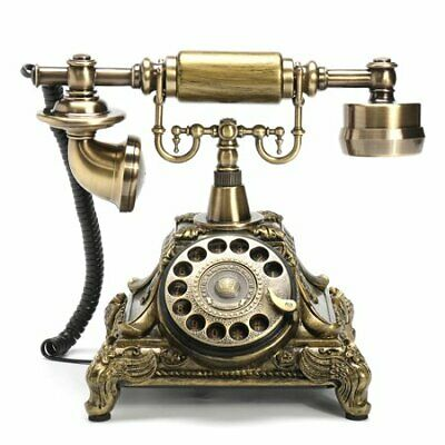 Vintage Rotary Dial Phone Bronze Retro Telephone Collectors Gifts Desk Office