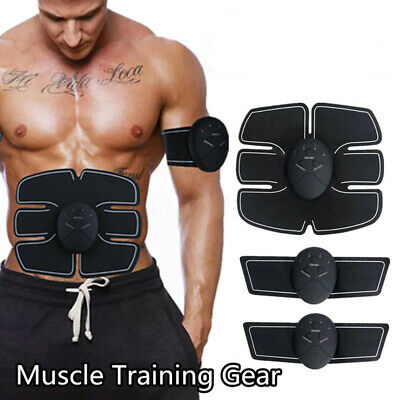 🔥EMS Abdominal Muscle ABS Training Gear Shape Trainer Fit Body Exercise  !