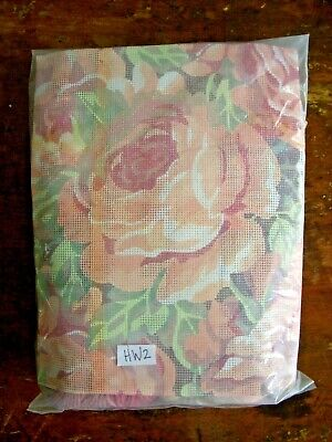 Glorafilia Mid Winter Roses Needlepoint Kit Cushion or Picture-Pink Green Yellow