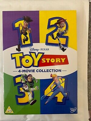 Toy Story 1-4 Complete DVD Box Set Free UK P&P
