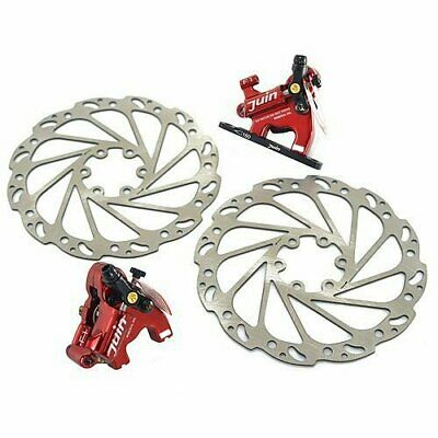 Flat mountRoadC... Juin Tech F1 Hybrid Hydraulic Road Disc Brake Set Red