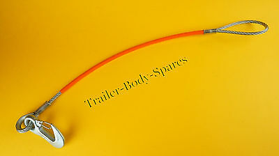 HEAVY DUTY 620mm Secondary Coupling Safety Cable for UNBRAKED TRAILER
