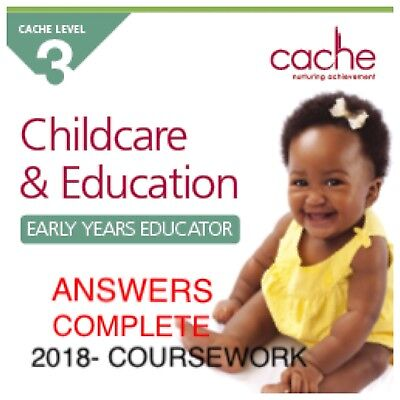 📄✨CACHE Level 3 Childcare &Education/COURSEWORK 2018 ANSWERS - NOT THE BOOK ✨📄
