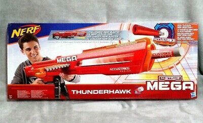 Xmas Gift Nerf Mega Thunderhawk Big Mega Gun N Strike Accustrike Darts Fun Toy