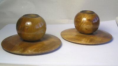 A Pair of Vintage Myrtle Wood Candlestands A7