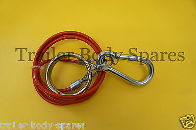 FREE P&P - Heavy Duty Breakaway Cable with split ring for Caravans & Trailers
