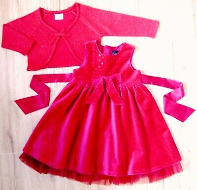 Girls Next Signature Party Dress & Crop Cardigan 2-3 Yrs Christmas Wedding Red