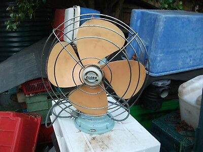 Fan Elcon retro 50's 60's style 3 speed with oscillation working order 240V