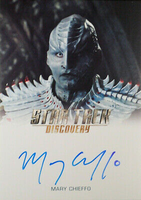 """Star Trek Discovery Autograph Card Mary Chieffo as """"L'Rell"""""""