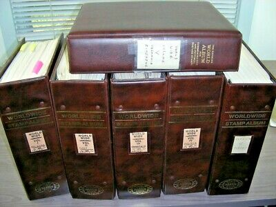 CHINA, WW, BRITISH COLONIES, 40000+ Stamps hinged in a 6 Volume Harris album